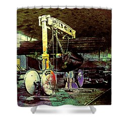 Shower Curtain featuring the photograph Grunge Hydraulic Lift by Robert G Kernodle