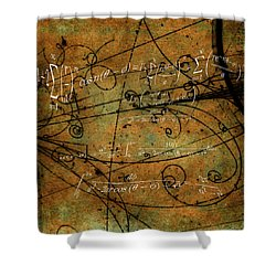 Shower Curtain featuring the photograph Grunge Math Equations by Robert G Kernodle
