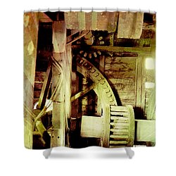 Shower Curtain featuring the photograph Grunge Mill Wheels by Robert G Kernodle