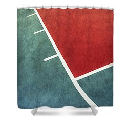 Shower Curtain featuring the photograph Grunge On The Basketball Court by Gary Slawsky