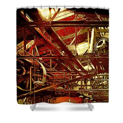 Grunge Power System Shower Curtain