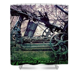 Grunge Steam Engine Shower Curtain