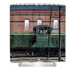 Grunge Train And Station Shower Curtain by Wayne King