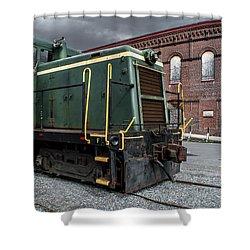 Grunge Train Shower Curtain by Wayne King