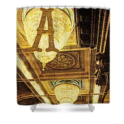 Grungy Melbourne Australia Alphabet Series Letter A Assembly Cha Shower Curtain
