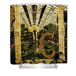 Grungy Melbourne Australia Alphabet Series Letter Shower Curtain