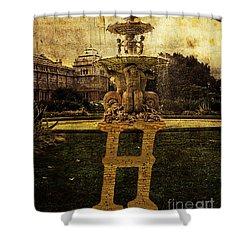 Grungy Melbourne Australia Alphabet Series Letter H Hochgurtel F Shower Curtain