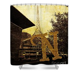 Grungy Melbourne Australia Alphabet Series Letter N National Gal Shower Curtain