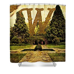 Grungy Melbourne Australia Alphabet Series Letter W Pioneer Wome Shower Curtain