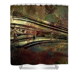 Grungy Merc Shower Curtain