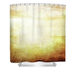 Grungy Vintage Image Of Sea And Sky In Sunlight Shower Curtain