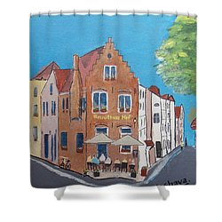 Gruuthuse Hof, Brugge, Belgium Shower Curtain