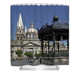 Shower Curtain featuring the photograph Guadalajara by Jim Walls PhotoArtist