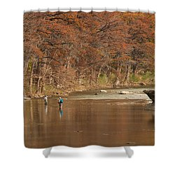 Guadalupe River Fly Fishing Shower Curtain