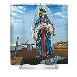 Guadalupe Visits Dali Shower Curtain