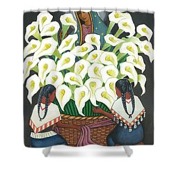 Guadalupe Visits Diego Rivera Shower Curtain