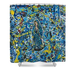 Guadalupe Visits Pollack Shower Curtain