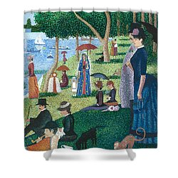 Guadalupe Visits Seuart Shower Curtain