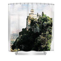 Guaita Castle Fortress Shower Curtain