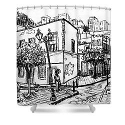 Guanajuato Street Shower Curtain by Rich Travis