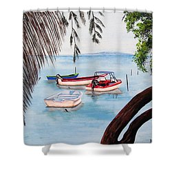 Guanica Bay Shower Curtain
