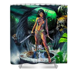 Guarded Treasure Shower Curtain