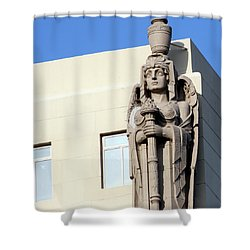 Guardian Angel And Blue Shower Curtain