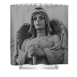 Guardian Angel On Watch Shower Curtain