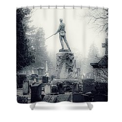 Shower Curtain featuring the photograph Guardian by Kendall McKernon