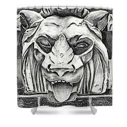 Guardian Lion Shower Curtain