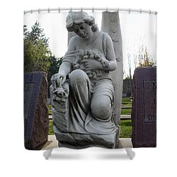 Guardian Of Souls Shower Curtain by Peter Piatt