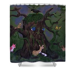 Guardian Of The Woods Shower Curtain