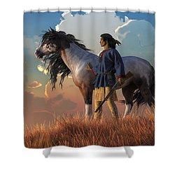 Guardians Of The Plains Shower Curtain by Daniel Eskridge