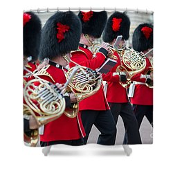 guards band at Buckingham palace Shower Curtain