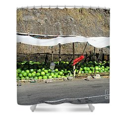 Guatemala Stand 2 Shower Curtain by Randall Weidner