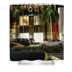 Shower Curtain featuring the photograph Gucci by Robert Hebert