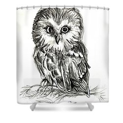 Guess Whoooo Shower Curtain