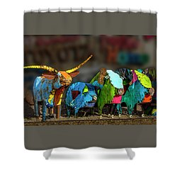 Shower Curtain featuring the photograph Guess Who's Coming To Dinner by Paul Wear