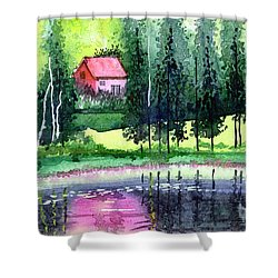 Guest House Shower Curtain by Anil Nene
