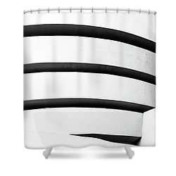 Shower Curtain featuring the photograph Guggenheim 2 by Elena Nosyreva