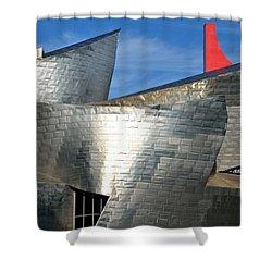 Guggenheim Museum Bilbao - 5 Shower Curtain by RicardMN Photography