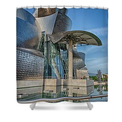 Guggenheim Museum Bilbao Spain Shower Curtain by James Hammond