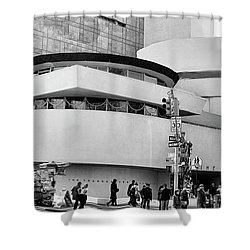 Guggenheim Museum Nyc Bw Shower Curtain