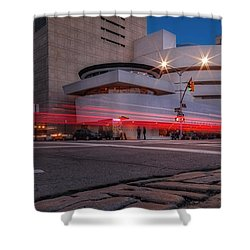 Shower Curtain featuring the photograph Guggenheim Museum Nyc  by Susan Candelario