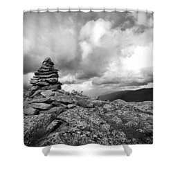 Guide In The Clouds Shower Curtain by Michael Hubley
