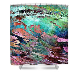 Guided By Intuition - Abstract Art Shower Curtain
