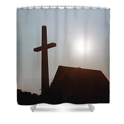 Shower Curtain featuring the photograph Guiding Light by Betty Northcutt