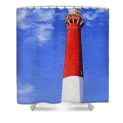 Shower Curtain featuring the painting Guiding Light by Lynne Reichhart