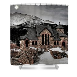 Guiding Light Over Saint Malo Shower Curtain