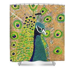 Guilded Peacock Shower Curtain